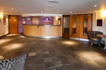 Reception area at Premier Inn, Heathley Park, Leicester